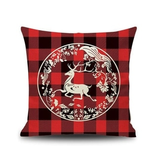 Merry Christmas Printed Throw Pillow Case 45x45cm 20991024-184