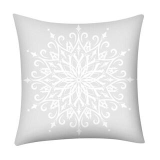 Merry Christmas Print Throw Pillow Case Snowflake 21296973-261
