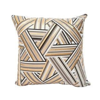 Black Bronzing Gold Foil Print Throw Pillow Case 13310509-6