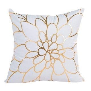 Black Bronzing Gold Foil Print Throw Pillow Case 13310509-9