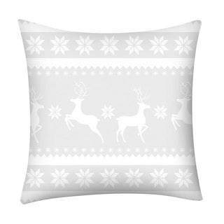 Merry Christmas Print Throw Pillow Case Snowflake 21296973-259