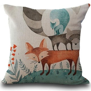 Fox Print Sofa Bed Home Decoration Pillow Case  21297735-370