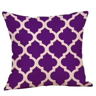 Purple Geometric Fall Autumn Cushion Cover 45x45cm 18220792-119