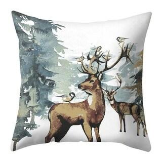 Merry Christmas Throw Pillow Case Elk pattern 21297552-343