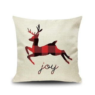 Merry Christmas Printed Throw Pillow Case 45x45cm 20991024-180