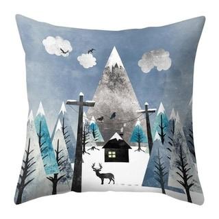 Merry Christmas Throw Pillow Case Elk pattern 21297552-344