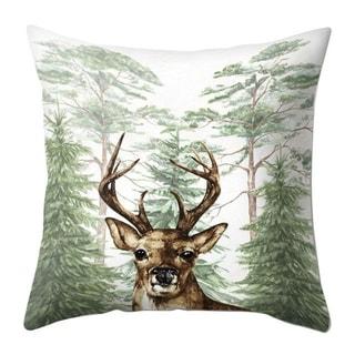 Merry Christmas Throw Pillow Case Elk pattern 21297552-351