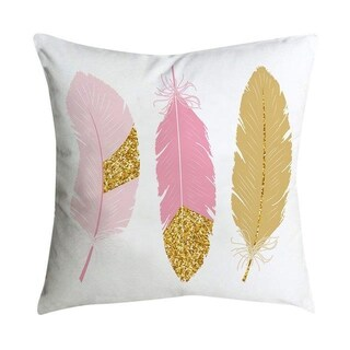 Pink small fresh printing square pillowcase 45X45cm 21297524-308