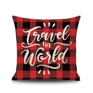 Merry Christmas Printed Throw Pillow Case 45x45cm 20991024-183