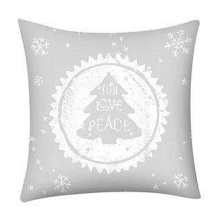 Merry Christmas Print Throw Pillow Case Snowflake 21296973-264