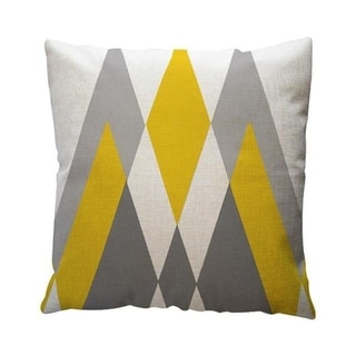 Yellow Geometric Pattern Throw Pillow Case Cushion Cover 19280645-127