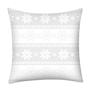 Merry Christmas Print Throw Pillow Case Snowflake 21296973-260