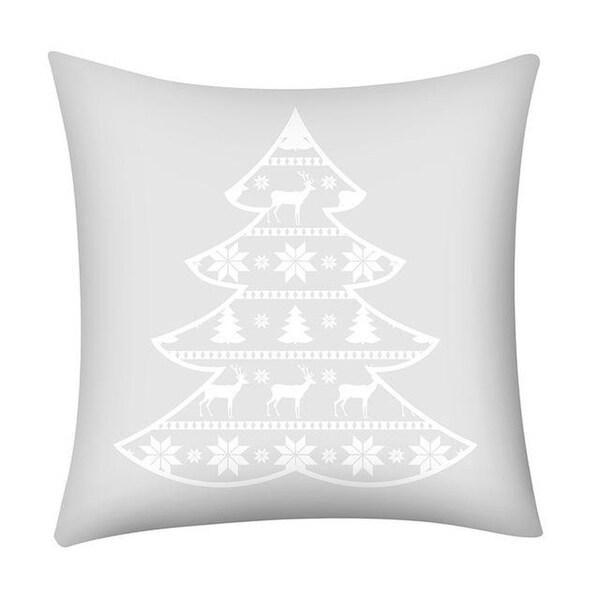Merry Christmas Print Throw Pillow Case Snowflake 21296973-257