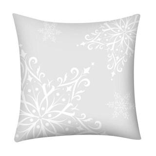 Merry Christmas Print Throw Pillow Case Snowflake 21296973-262