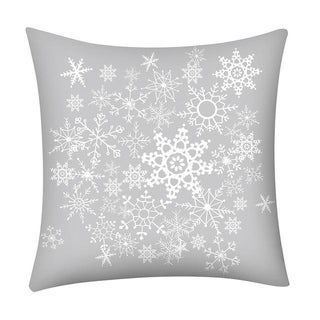 Merry Christmas Print Throw Pillow Case Snowflake 21296973-263