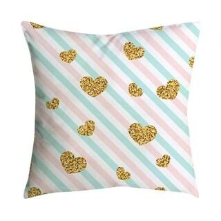 Pink small fresh printing square pillowcase 45X45cm 21297524-309