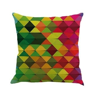 Geometric cushion cover patch Paint Linen Cushion cover 15307058-116