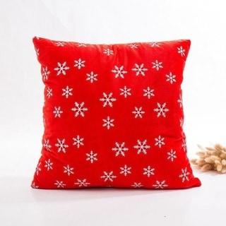 Super Soft Velvet Cushion Cover Red snowflake series 21297195-283