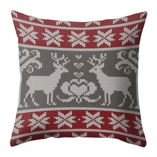 Merry Christmas Throw Pillow Case Elk pattern 21297552-339