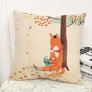 Fox Print Sofa Bed Home Decoration Pillow Case  21297735-369