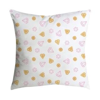 Pink small fresh printing square pillowcase 45X45cm 21297524-311