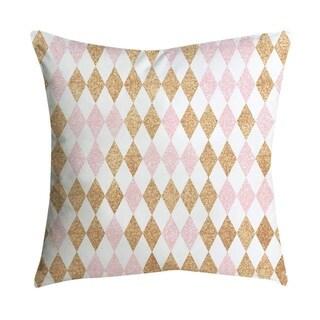Pink small fresh printing square pillowcase 45X45cm 21297524-314