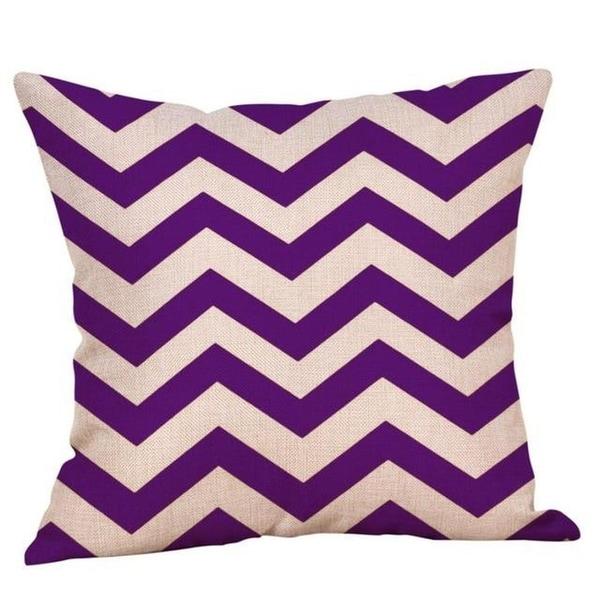 Purple Geometric Fall Autumn Cushion Cover 45x45cm 18220792-125