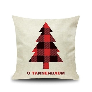Merry Christmas Printed Throw Pillow Case 45x45cm 20991024-181