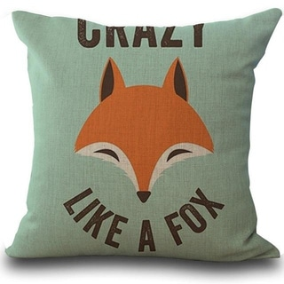 Fox Print Sofa Bed Home Decoration Pillow Case  21297735-371