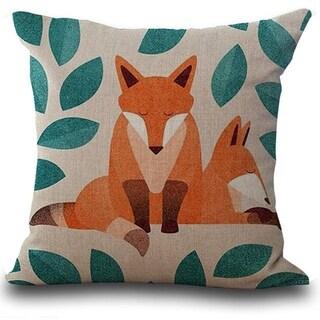 Fox Print Sofa Bed Home Decoration Pillow Case  21297735-367