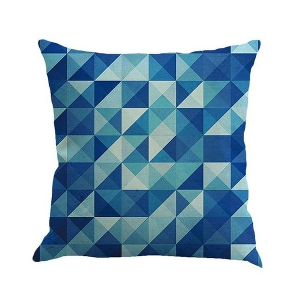 Geometric cushion cover patch Paint Linen Cushion cover 15307058-113