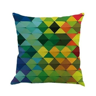 Geometric cushion cover patch Paint Linen Cushion cover 15307058-115