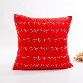 Super Soft Velvet Cushion Cover Red snowflake series 21297195-284