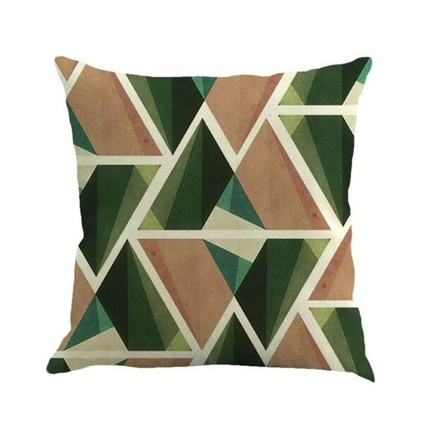 Geometric cushion cover patch Paint Linen Cushion cover 15307058-117