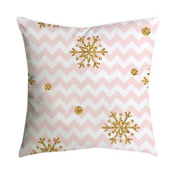 Pink small fresh printing square pillowcase 45X45cm 21297524-315