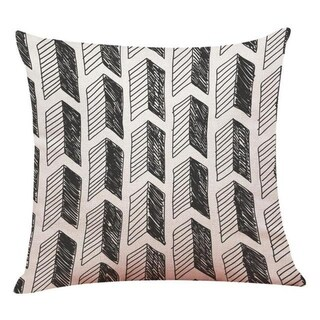 Black White Style Plants Throw Pillowcase Pillow Covers 13498699-36