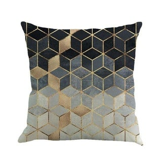 Geometric cushion cover patch Paint Linen Cushion cover 15307058-112