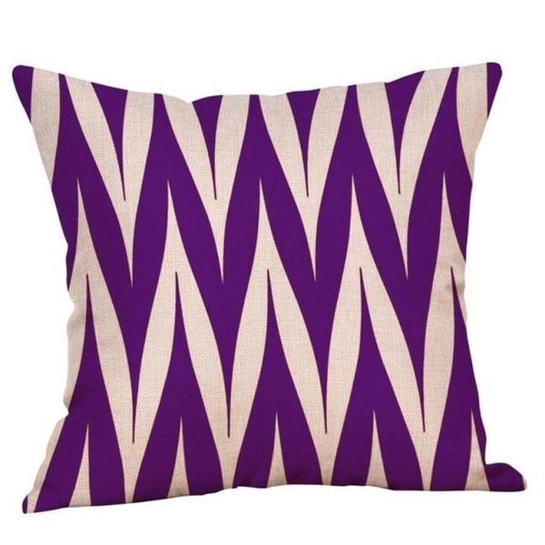 Purple Geometric Fall Autumn Cushion Cover 45x45cm 18220792-123