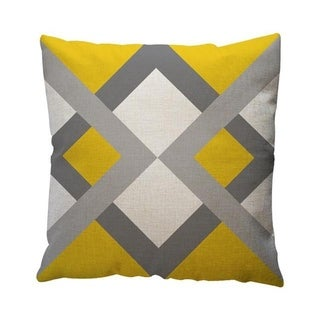 Yellow Geometric Pattern Throw Pillow Case Cushion Cover 19280645-133