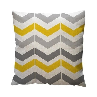 Yellow Geometric Pattern Throw Pillow Case Cushion Cover 19280645-131