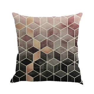 Geometric cushion cover patch Paint Linen Cushion cover 15307058-114