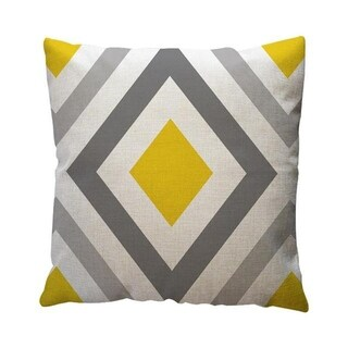 Yellow Geometric Pattern Throw Pillow Case Cushion Cover 19280645-129