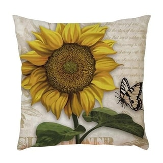 Sunflower Printed Throw Pillow Case Pillows Cover 21297830-385