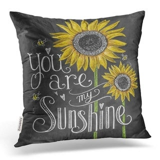 Sunflower Printed Throw Pillow Case Pillows Cover 21297830-386