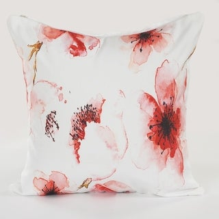 LR Home Floral Watercolor Indoor/Outdoor Throw Pillow 18 inch
