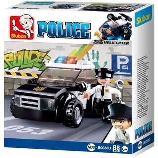 Sluban Kids Police Car Building Blocks 88 Pcs SLU08625