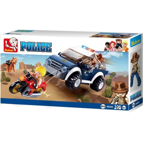 Sluban Kids Police Jeep K9 Unit Building Blocks 106 Pcs SLU08627