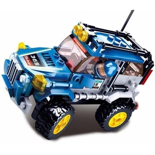 Sluban Kids Blue Offroad Vehicle Building Blocks 145 Pcs SLU08634