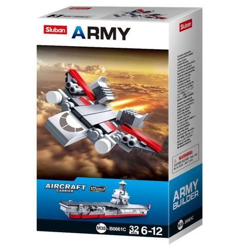 Sluban Kids Army Fighter Jet Building Blocks 32 Pcs SLU08638