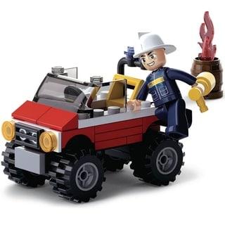 Sluban Kids Fire Jeep Building Blocks 58 Pcs SLU08601